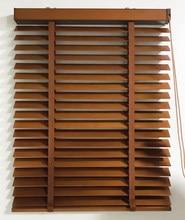 Manual basswood 50mm/35mm persianas de janela de madeira