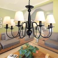 Amerikaanse Landelijke Stof Woonkamer Led Hanglamp Ijzer Slaapkamer Eetkamer Kroonluchter|pendant lamp|industrial lamploft industrial lamp -