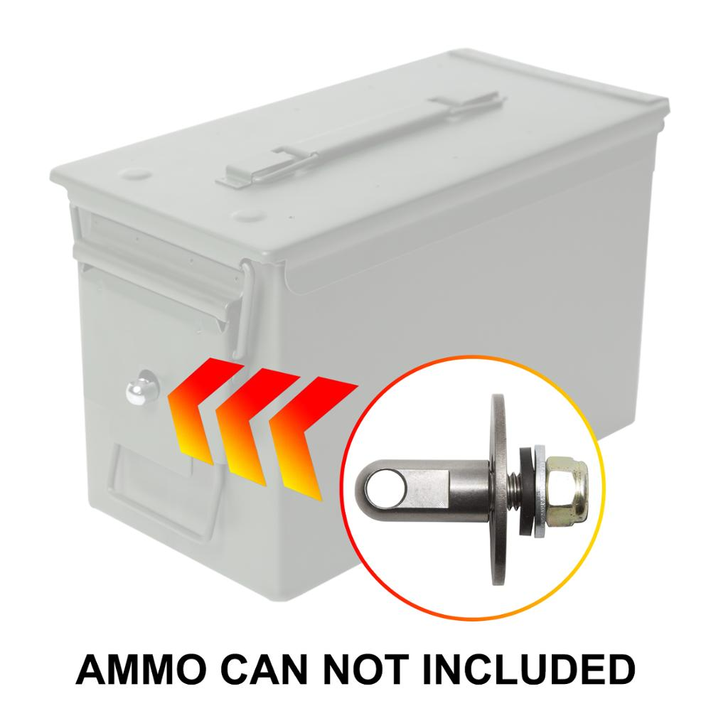 Bolt 50 Cal Ammo can Steel Gun lock box Ammunition Gun safe box Military Army lockable case 40mm Pistol Bullet Valuables Storage