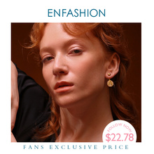 Enfashion Letter Initial Drop Earrings Stainless Steel Gold Color Letter Charms Screw Dangle Earring Jewelry For Women 188003