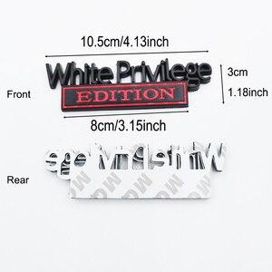 Image 2 - Weiß Privileg Edition Emblem Abzeichen Auto Aufkleber Für Jeep Compass Patriot Renegade Ford F150 F250 F350 Chevrolet RAM GMC Hummer