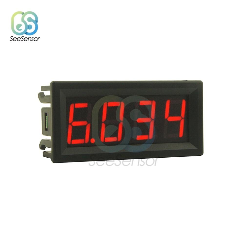 0-10 А, 0,56 дюйма, 4-битный светодиодный цифровой амперметр, инструмент для измерения тока, красный, зеленый, синий дисплей 0,56 дюйма
