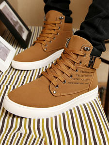 Winter Boots Men Shoes Flock Lace-Up Fashion Warm Plush Ankle Size-39-47 New-Arrival