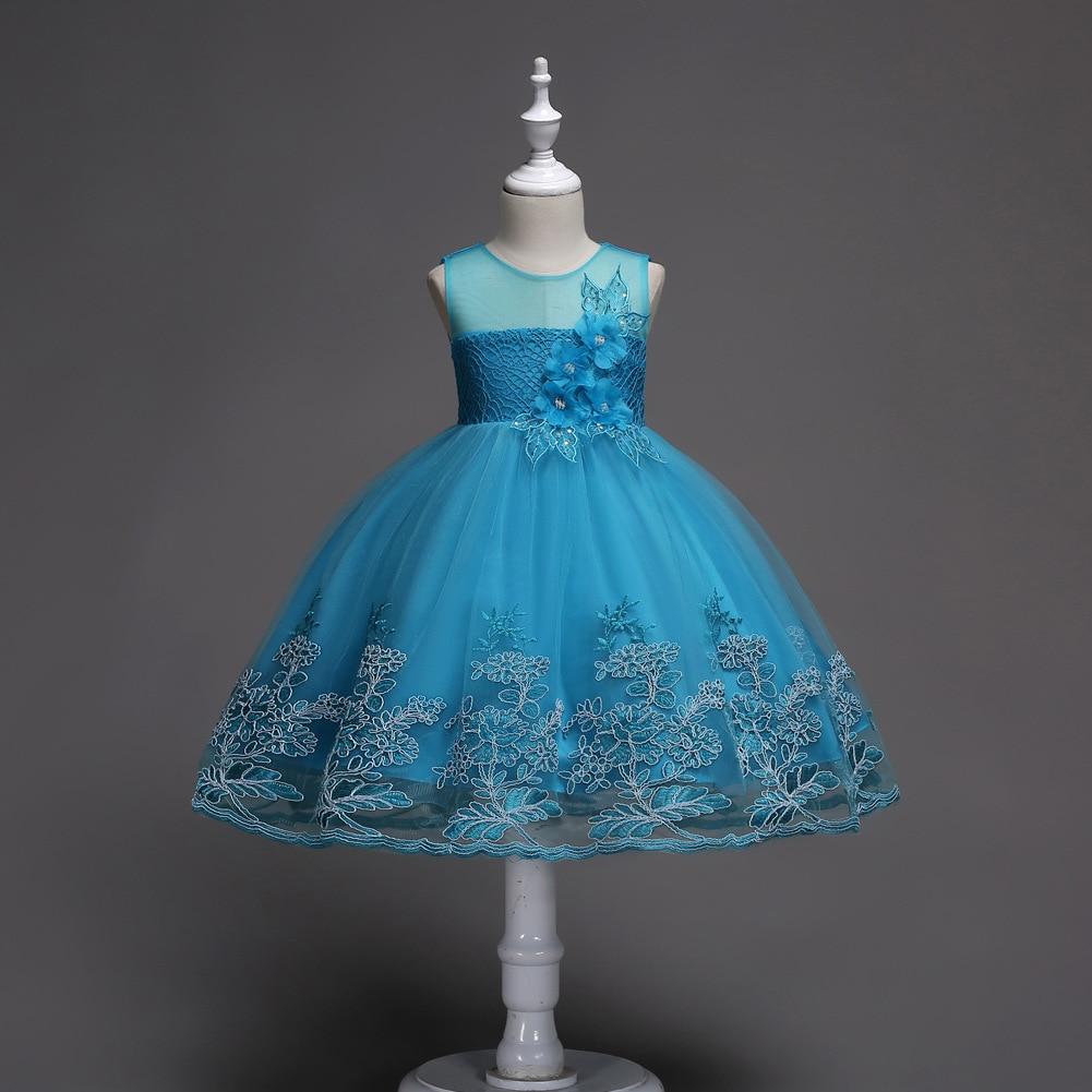 Cross Border Hot Selling Europe And America Children Sleeveless Dress Princess Floral Printed Dress Flower Boys/Flower Girls Gau