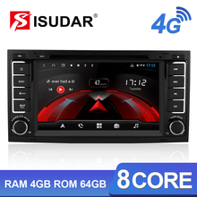 Isudar H53 4G Android Auto Radio 2 Din For Volkswagen/Touareg Car Multimedia DVD Player Octa Core RAM 4GB ROM 64G DSP DVR Camera klyde octa core 4g wifi android 8 0 7 1 6 0 4gb ram 32gb rom car dvd multimedia player for kia rio k3 pride 2011 2012 2013 2014