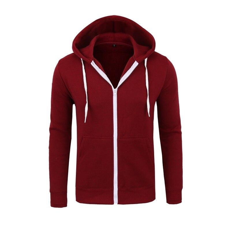 MRMT 2020 New Men's Hoodies Sweatshirts Zipper Hoodie Men Sweatshirt Solid Color Man Hoody Sweatshirts For Male 5