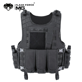 MGFLASHFORCE Molle Airsoft Vest Tactical Vest Plate Carrier Swat Fishing Hunting Vest Military Army Armor Police Vest 1