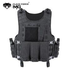MGFLASHFORCE MOLLE Airsoft เสื้อกั๊กยุทธวิธี PLATE Carrier SWAT ตกปลาการล่าสัตว์เสื้อกั๊กกองทัพทหารเกราะเสื้อกั๊กตำรวจ