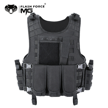 MGFLASHFORCE Molle Airsoft Vest Tactical Vest Plate Carrier Swat Fishing Hunting Vest Military Army Armor Police Vest фото