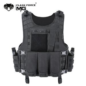 Image 1 - Mgflashforce モールエアガンベストタクティカルベストプレートキャリア swat 釣り狩猟ベスト軍事軍鎧警察のベスト