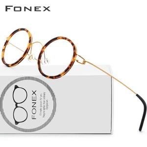 Оправа очков из титанового сплава, мужские и женские очки для близорукости, оптика, Дания, сверхлегкие очки по рецепту, корейские Безвинтовы...