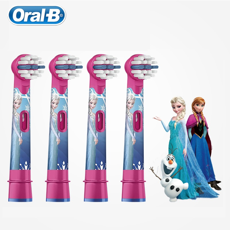 Oral B Kids Electric Toothbrush Heads Soft Bristle Special Design Small Head Deep Clean Teeth 2/4 Pieces/ Pack image