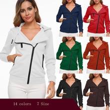 Модная женская куртка с капюшоном с длинным рукавом, женские Толстовки, Толстовки, блейзер на молнии для беременных и матерей после родов, одежда 14 цветов, XS-3XL