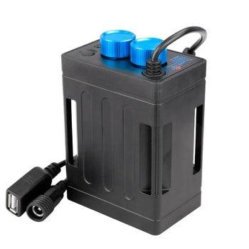 Trustfire Bicycle Light Power Box 8.4V 5V Dual Voltage Output for 2/4/6 18650/26650 Batteries W/ Strap Optional 100-240V Adaptor