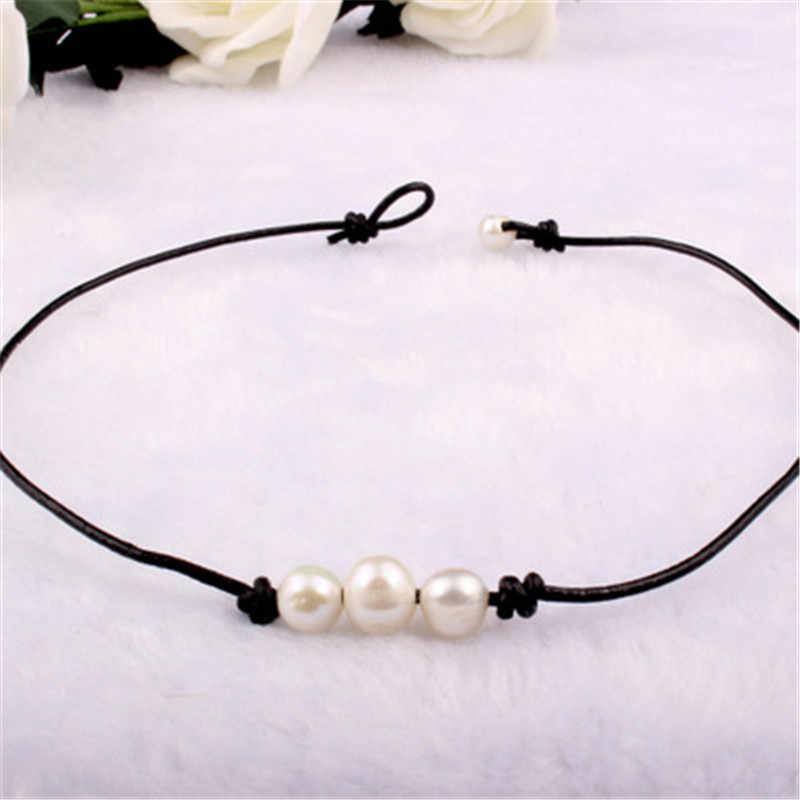 Cheap Natural Pearl Necklaces Designer Brand Women Rope Chain Best Collar Accessories Female Pearl Pendant Necklace