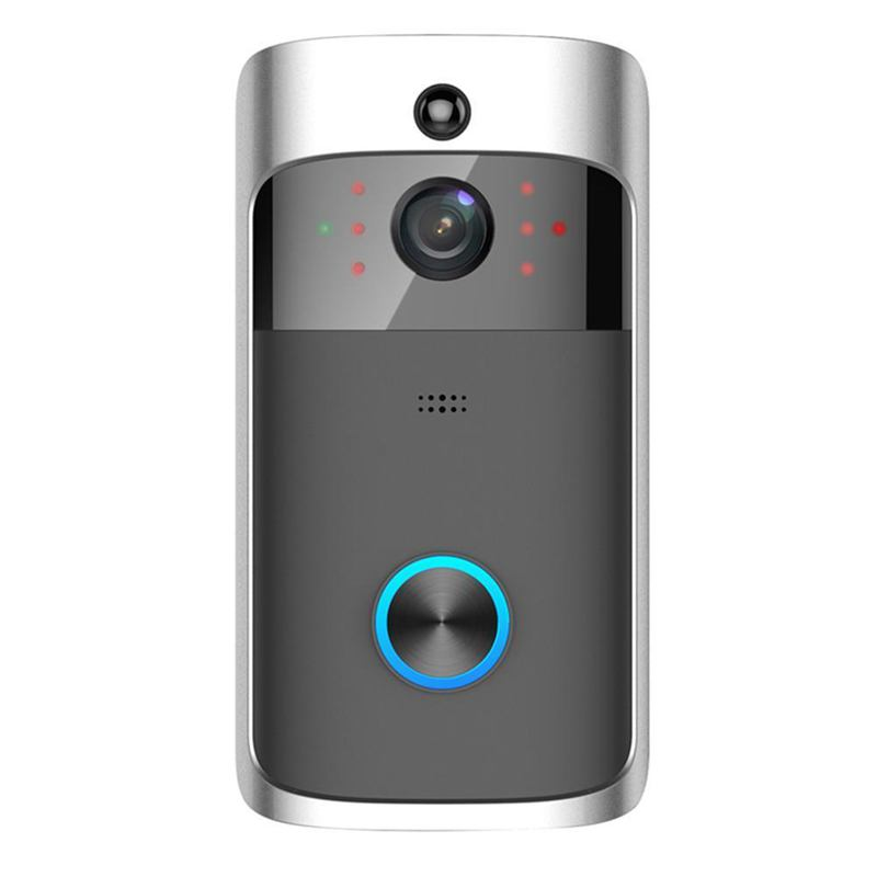 FFYY-Smart Wifi Doorbell Wireless HD Video Camera Ring Motion Detection Silver