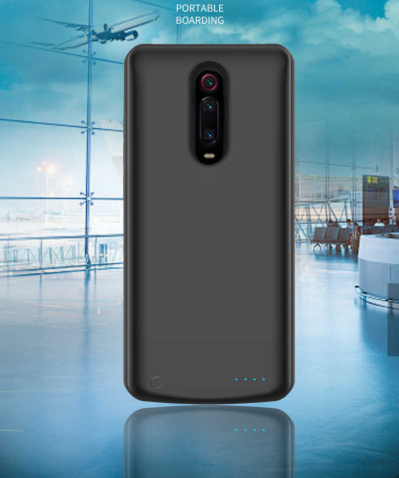 Silikon Shockproof Battery Charger Case untuk Xiao Mi Mi 9T Backup Power Bank Case untuk Xiao Mi Mi 9T PRO Charger Kembali Cover Capa