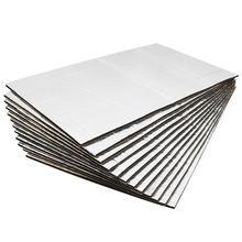 Uxcell, 9 peças/12 peças 50cm * 30cm, tapete de isolamento térmico para carros isolamento isolante do capuz do carro