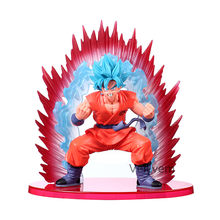 20 centímetros Filho Dragon Ball Z Super Saiyan Goku action figure toy modelo SSGSS Cho Gi Shin Den Kaioken Azul collectible modelo para meninos(China)