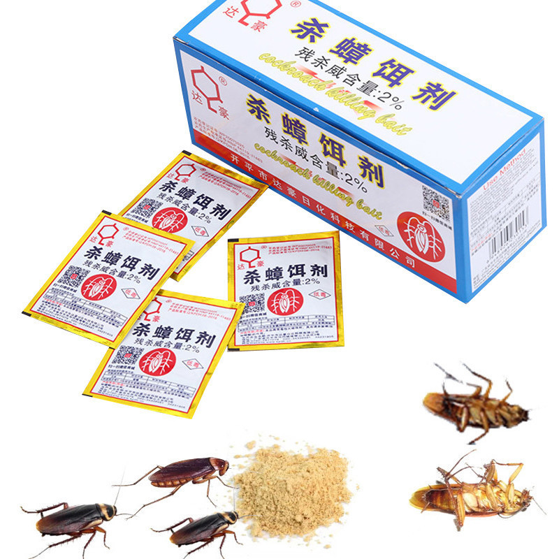 XUNZHE 10 Packs Effective Killing Cockroach Bait Powder Cockroach Repeller Insect Roach Killer Anti-Pest Reject Trap Pest Contro