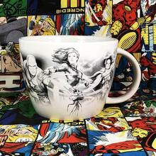 Disney Ceramic Cup Cartoon American Team Iron Man Milk Cup Simple and Cute Large Capacity Mug Coffee Cup Breakfast Cup