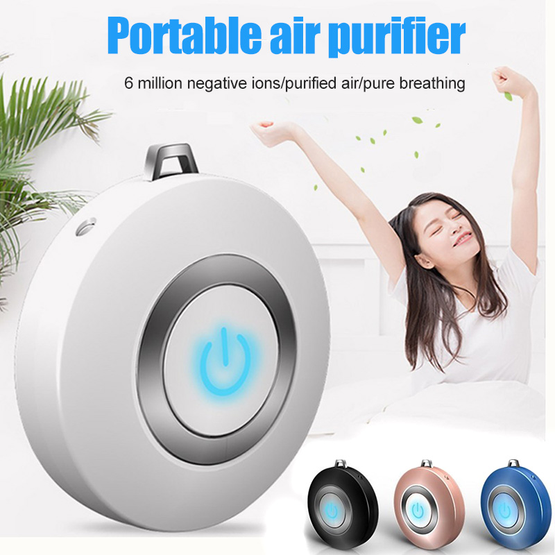 Wearable Air Purifier Necklace Mini Portable USB Air Cleaner Negative Lon Generator Low Noise Air Freshener Car Air Purifiers