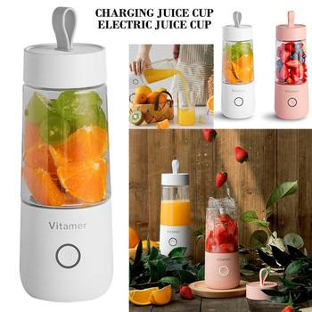 Fashion  Mini Portable Electric Fruit Vitamin Juice Cup Vitamer Portable Juicer Charging Juice Cup Electric Juice Cup  Blenders jiqi household mini electric portable juicer glass juice cup 222w big power pink blue green