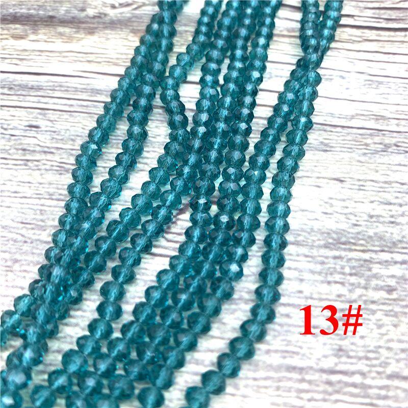 148 шт 2x3 мм/3x4 мм/4x6 мм хрустальные бусины Рондель граненые стеклянные бусины для изготовления ювелирных изделий DIY женский браслет ожерелье ювелирные изделия - Цвет: NO.13