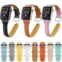 Leather Strap For Apple Watch band 42mm 44 mm iwatch band 38mm 40mm Correa pulseira beacelet Watchband watch accessories pulseira universal alligator crocodile grain leather strap wristwatch watch band correa de reloj 17june20
