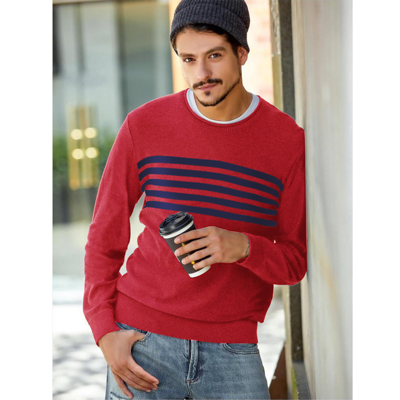Plus Size Men Crew Neck Sweater Cut The Tag Afsss Hollistic Male Pullover Knitting Sweater Shirt