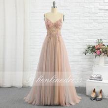 Элегантный Румяна Тюль вечернее платье с буквенным принтом Длинная