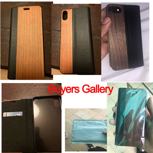 Image 4 - KISSCASE Bamboo Natural Wood Case For iPhone 11/11 Pro Max XR X XS Max 7/8 Plus 11 PU Leather Flip Cases Pouch Bag S10 Plus P30