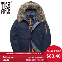 TIGER FORCE Winter Jacket Men Padded Parka Russia Man Winter Coat Arti