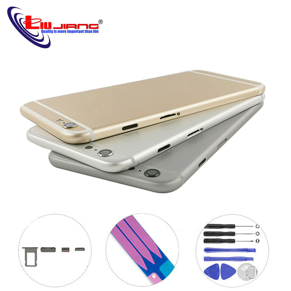 Battery Cover Back Housing For IPhone 6 6s Plus Back Battery Rear Case Middle Frame Replacement Housing Customize IMEI