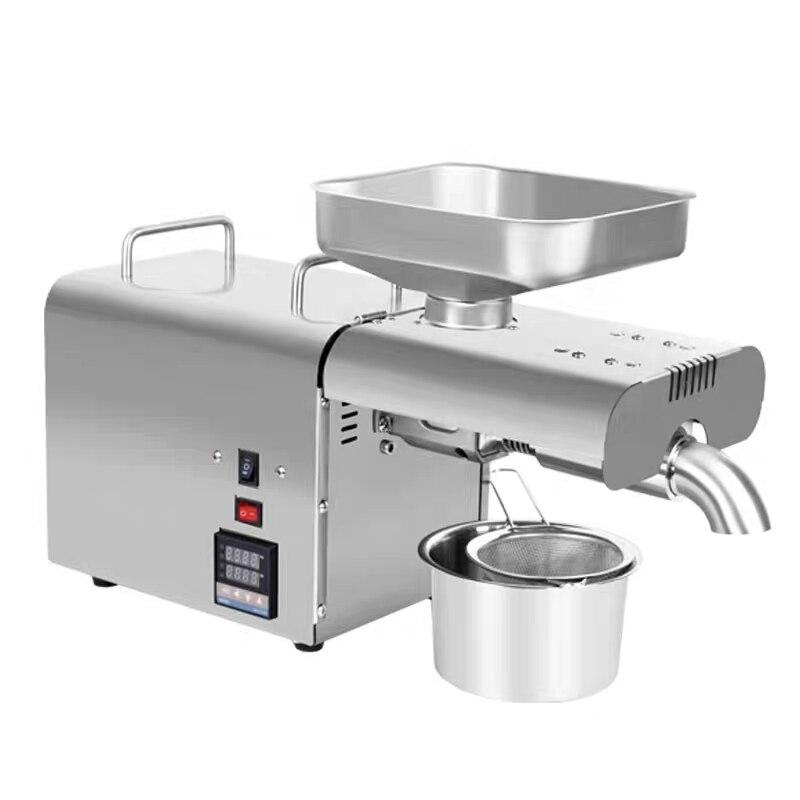 Oil Press Machine  Temperature Adjustable Control For Peanut Coconut Sesame Household Oil Presser