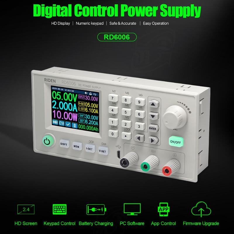 High Efficiency Voltage Regulator Module 1Pcs Digital Power Supply Case S06A For RD6006 RD6006W Voltage Converter Metal Housing Shell Not Contain Power Supply Power Supply Buck Converter DIY Adjustabl