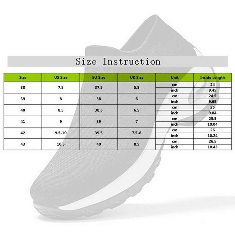 Sfit kadın ayakkabı moda nefes örgü rahat ayakkabılar platformu Sneakers erkekler platformu Slip-On Sneakers yürüyüş koşu ayakkabıları