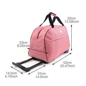 Image 3 - Julysong s canção oxford rolando bagagem mala de viagem com rodas trole bagagem para homem/mulher levar em sacos de viagem