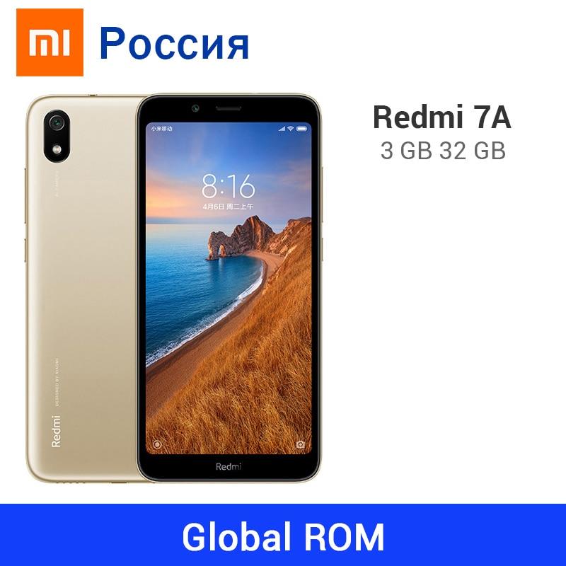 Смартфон Xiaomi Redmi 7A международной прошивки, 32 ГБ ПЗУ 3 ГБ ОЗУ, аккумулятор 4000 мАч, экран 5,45 дюйма, восьмиядерный процессор Snapdragon 439, камера 13 Мп