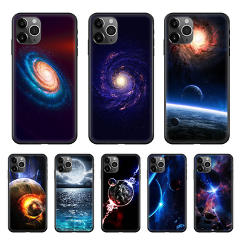 Space moon earth mars Phone Case cover For iphone 4 4S 5 5C 5S 6 6S PLUS 7 8 X XR XS 11 PRO SE 2020 MAX black bumper silicone image