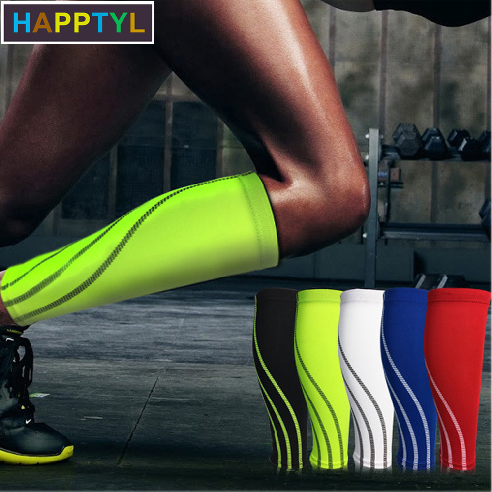 HAPPTYL 1Pcs Calf Compression Sleeves For Men & Women - Leg And Shin Compression Sleeves For Runners, Cyclist - Shin Splint