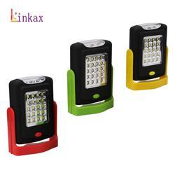 Portable LED veilleuse lampe torche à LED LED torche lanterne lumière de travail 23 LED 2 Modes Camping vélo lampe avec aimant intégré crochet