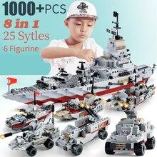 1000pcs ww2 warship building blocks toys model warship battleship