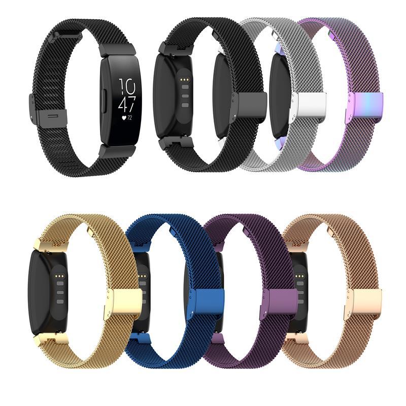 Ремешок для часов из нержавеющей стали для Fitbit Inspire/Inspire HR/ACE2 milanese loop Mesh Сменные умные Браслеты Аксессуары для часов