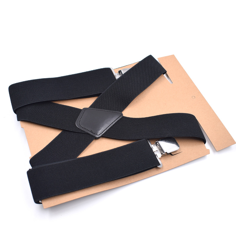 4 Clips Elegant Adult Men Women Shirt Stay 5cm Pants Trousers Gift Clip-on Braces Elastic Alloy Metal Head Adjustable Suspenders