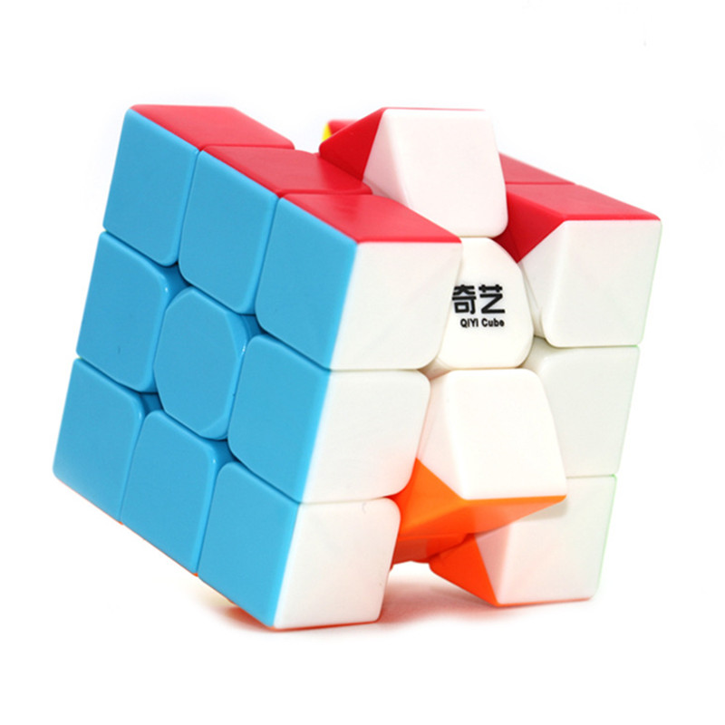 Qiyi Warrior W 3x3 Magic Cube Colorful Stickerless Speed Cube Antistress 3x3x3 Learning Educational Puzzle 3x3 Cubo Magico Toys
