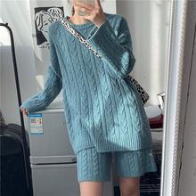 Осенне зимний комплект из двух предметов женский свитер со штанами