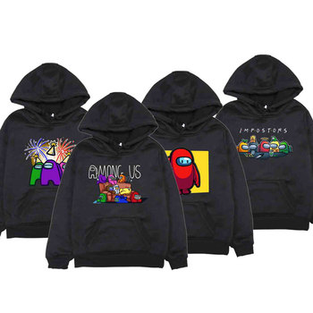 2020 Fall Among Us Boys/girls Hoodies Casual Sweatshirts Long Sleeve Funny Cartoon Among Us Hoodie Childrem Kawaii Outerwear Kid image