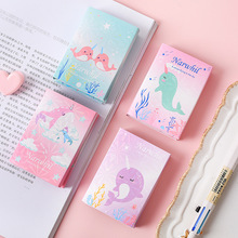 12 set/lot Memo Pads Sticky Notes Narwhal diary Scrapbooking Stickers Office School stationery Notepad