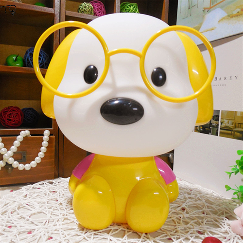 Lovely Cute Cartoon Dog Night Lights Creative Bedroom Bedside Kids Room Light Children Baby Nursery with Switch Gift Luminaire in LED Night Lights from Lights Lighting
